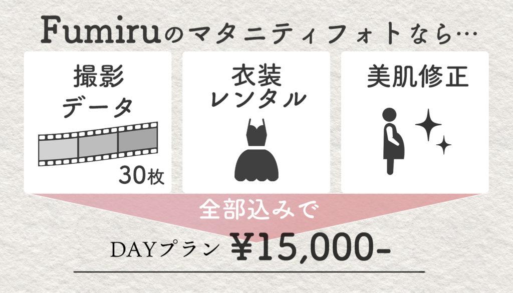 データ・衣装・美肌修正、全て込みで15000円